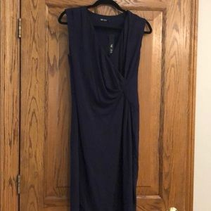 NWT Nic + Zoe Petite Medium Navy dress.